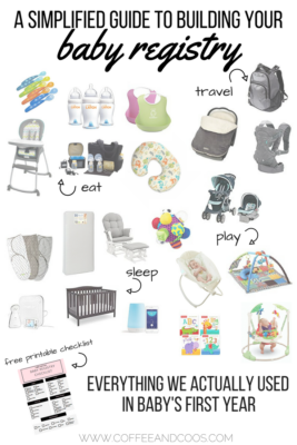 Everything we Actually Used in Baby's First Year